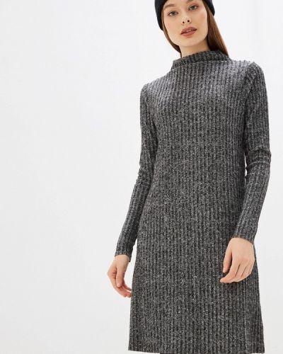 Платье серое вязаное Only