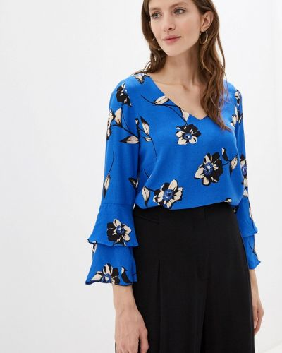 Блузка с рюшами синяя Wallis