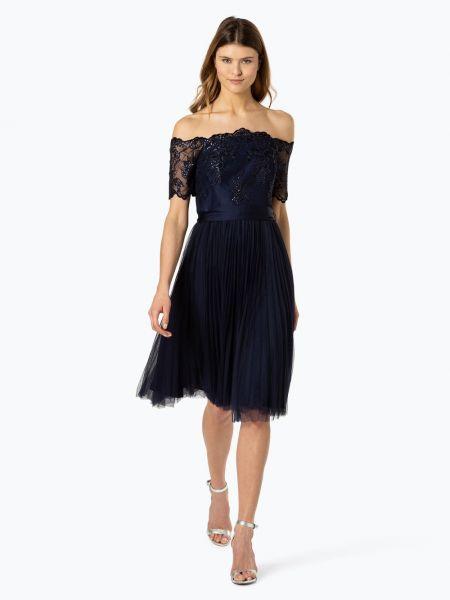 Niebieska sukienka elegancka z cekinami Coast
