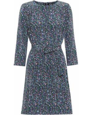Платье мини шелковое с принтом A.p.c.