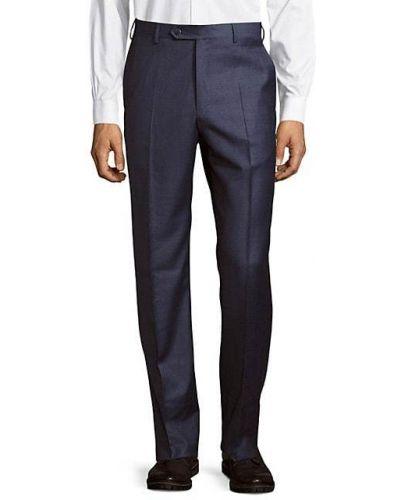 Шерстяные бежевые брюки с карманами Zanella