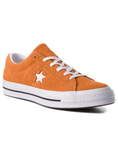 Pomarańczowe tenisówki Converse
