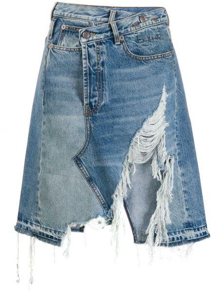 Юбка мини джинсовая с завышенной талией R13