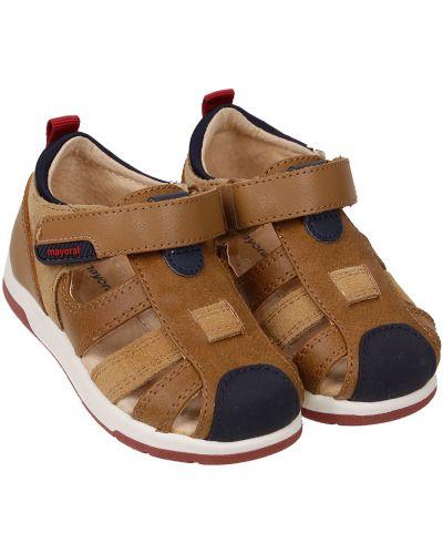 Коричневые кожаные сандалии Mayoral