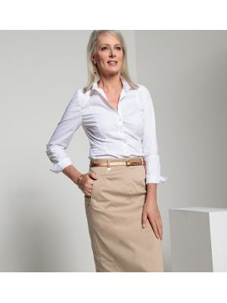 Рубашка с длинным рукавом приталенная стрейч Anne Weyburn
