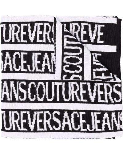 Szalik wełniany - biały Versace Jeans Couture