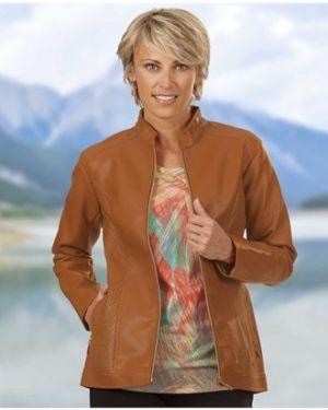 Кожаная куртка на молнии облегченная Atlas For Men