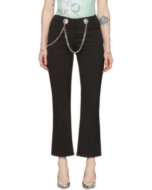 Черные прямые джинсы стрейч Miaou