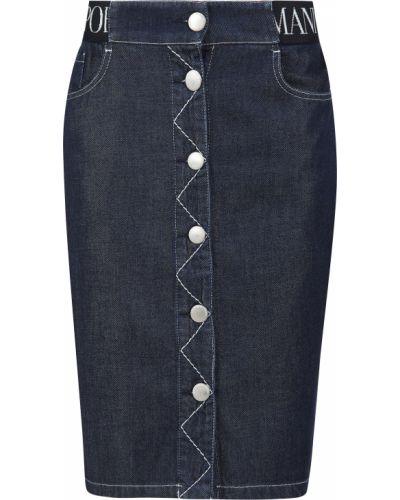 Синяя юбка Emporio Armani
