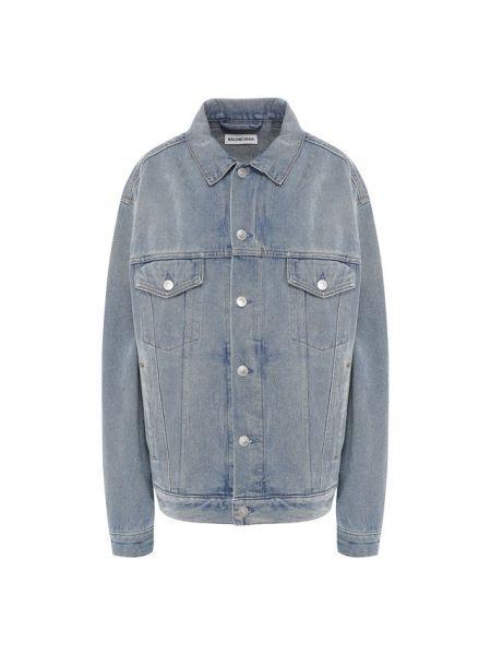 Джинсовая куртка с надписью Balenciaga