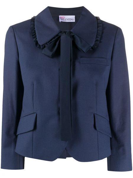 С рукавами синий классический пиджак с карманами Redvalentino