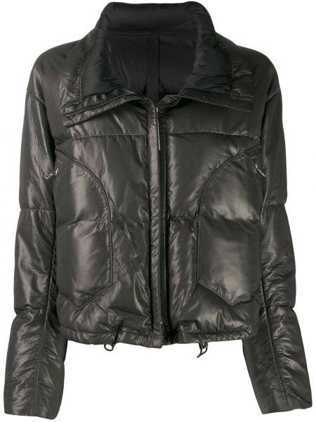 Серая кожаная куртка на молнии Isaac Sellam Experience