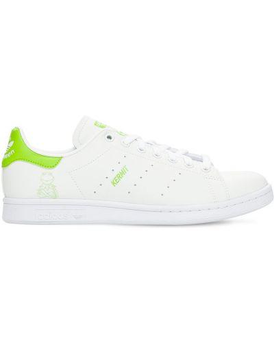 Ажурные белые высокие кроссовки на шнурках Adidas Originals