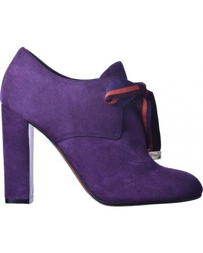Фиолетовые замшевые ботильоны Etro