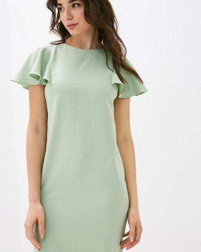 Зеленое платье-футляр Shovsvaro