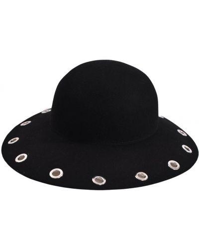 Czarny kapelusz Marc Cain