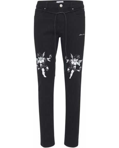 Czarne jeansy bawełniane Lifted Anchors
