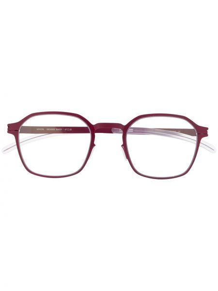 Fioletowe okulary srebrne Mykita