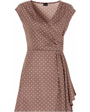 Платье в горошек с запахом Bonprix