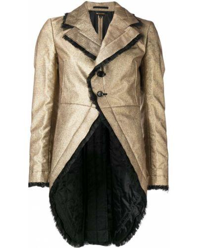 Шерстяной желтый удлиненный пиджак на пуговицах Comme Des Garçons