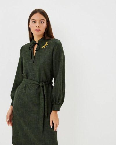 Платье осеннее зеленый Maison De La Robe