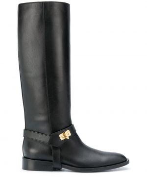 Prosto z paskiem czarny buty z prawdziwej skóry Givenchy