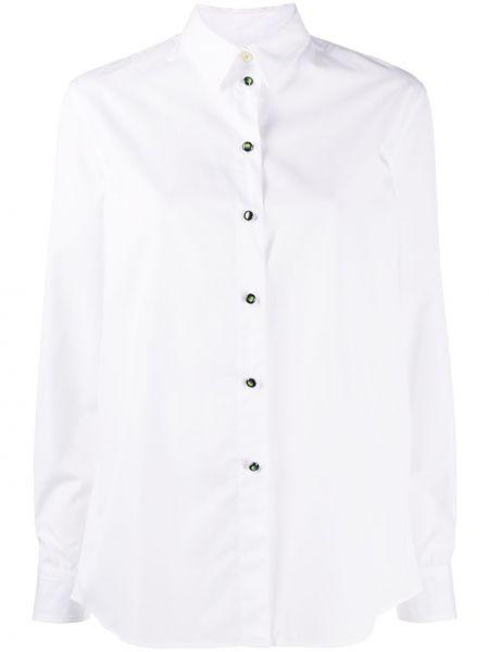 С рукавами белая классическая рубашка с воротником Paul Smith