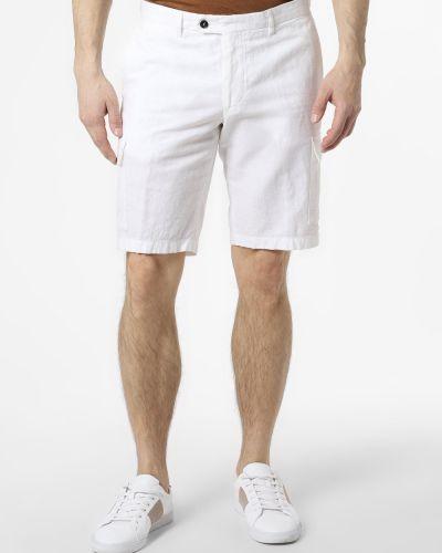 Ciepłe białe szorty cargo Finshley & Harding London