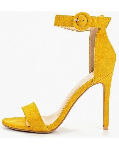 Босоножки желтый на каблуке Fersini