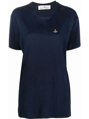 Синяя прямая футболка Vivienne Westwood