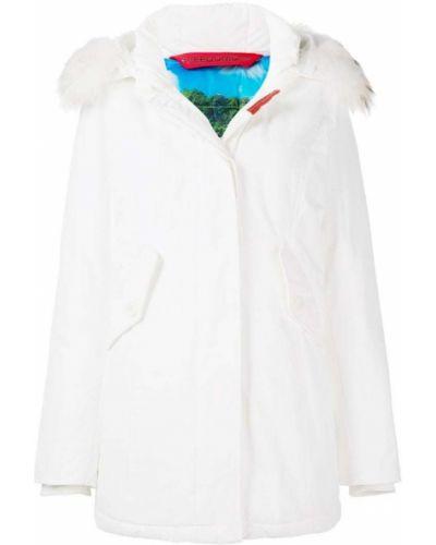 Пальто с капюшоном - белое Freedomday