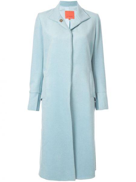 Синее шерстяное пальто классическое с капюшоном Manning Cartell