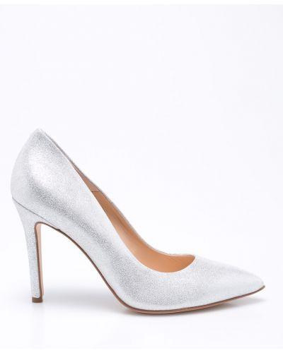 Туфли на высоком каблуке серебряного цвета Solo Femme