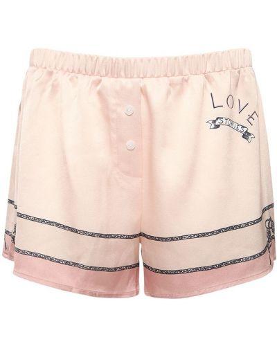 Сатиновые пижамные шорты на резинке Love Stories