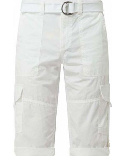 Białe bermudy bawełniane Montego