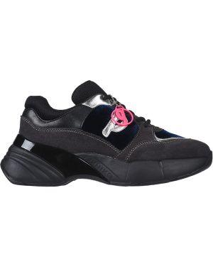 Кожаные кроссовки - черные Pinko