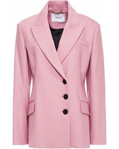 Розовый пиджак двубортный с карманами Erdem
