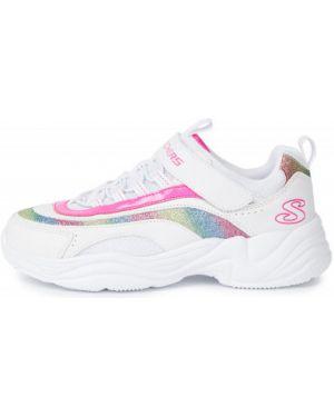 Облегченные спортивные белые кроссовки из искусственной кожи Skechers