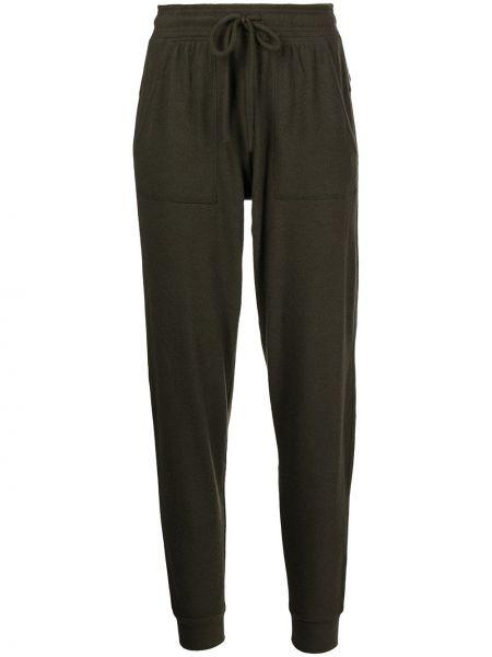 Спортивные брюки из полиэстера - зеленые Alo Yoga