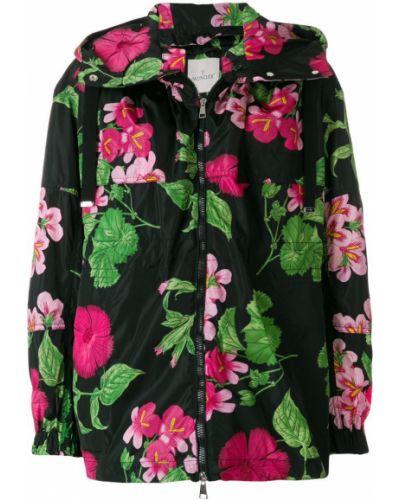 Длинная куртка с цветочным принтом прямая двухсторонняя Moncler