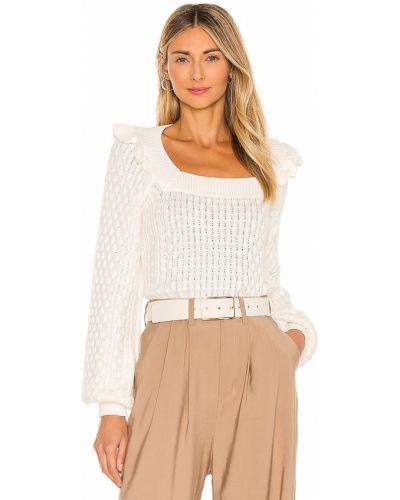 Кашемировый белый свитер для полных 525