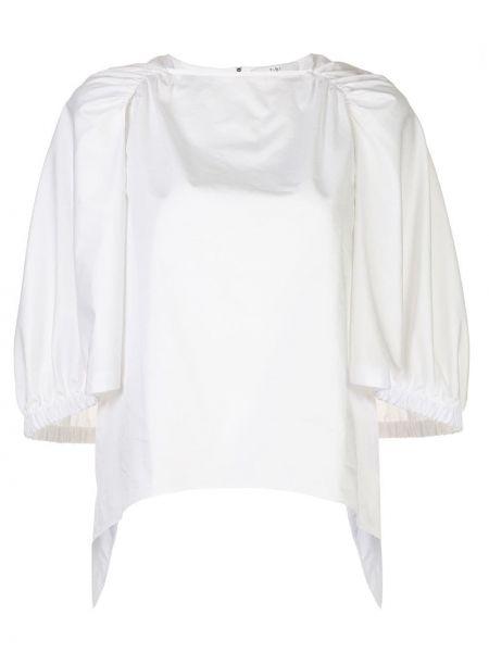 Biała koszula krótki rękaw - biała Tibi