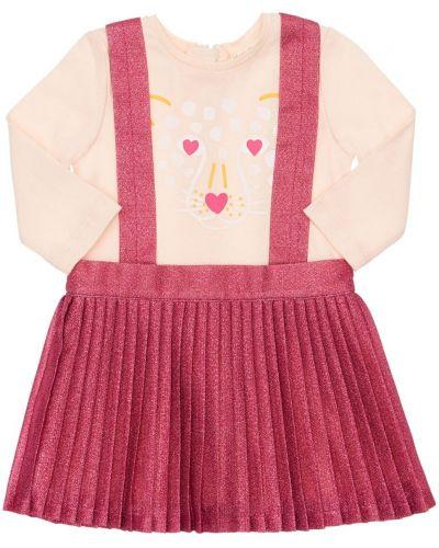 С рукавами розовое платье макси с вырезом Billieblush
