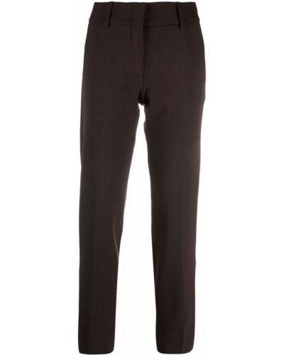 Коричневые шерстяные брюки Piazza Sempione
