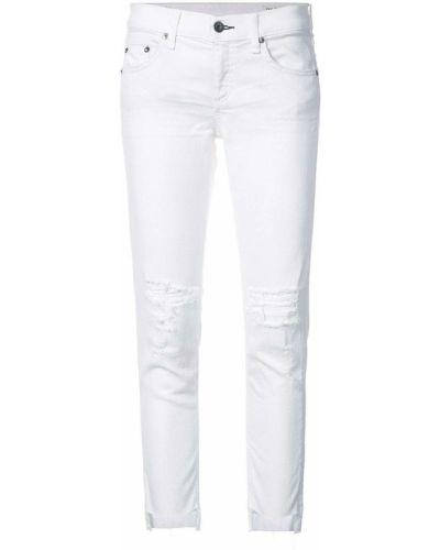 Рваные джинсы - белые Rag & Bone/jean