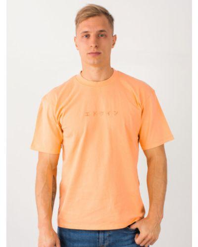 Pomarańczowa koszulka z haftem Edwin
