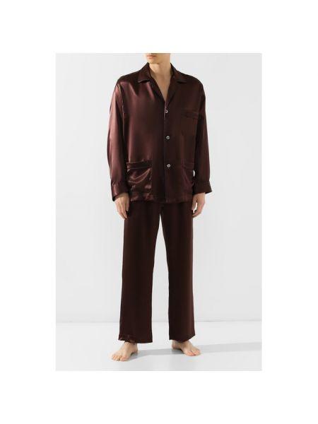 Пижама шелковая на пуговицах Brioni
