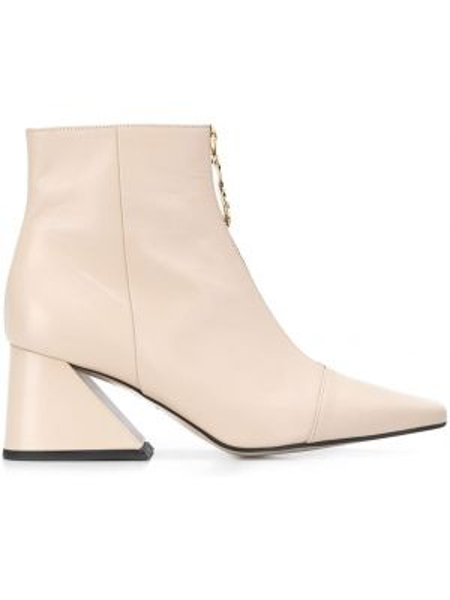 Сапоги без каблука золотые с квадратным носком Yuul Yie