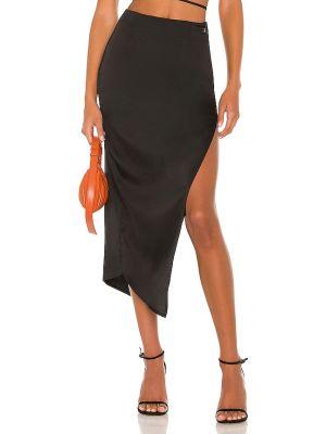 Czarna satynowa spódnica Atoir