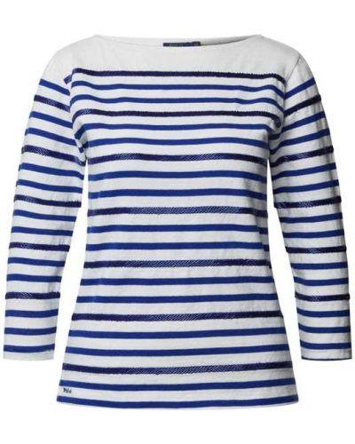 Bluzka w paski z haftem bawełniana Polo Ralph Lauren